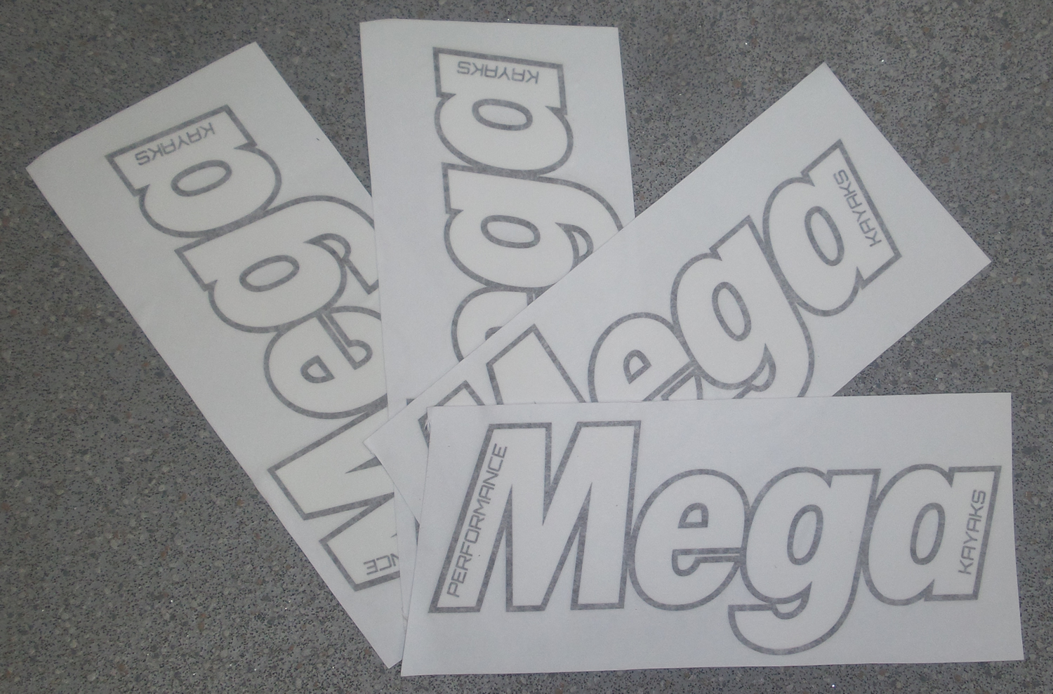 Mega Kayaks Stickers , logo
