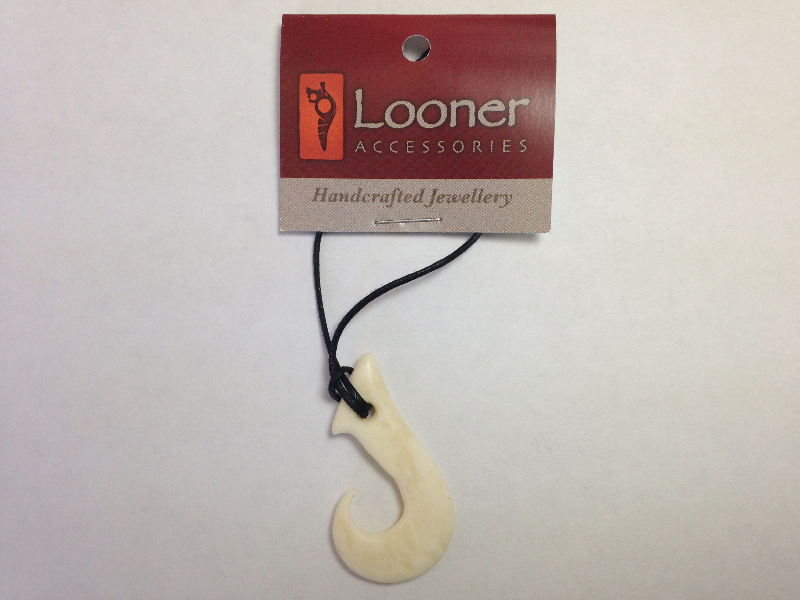 Looner Fishin Hook Bone Necklace